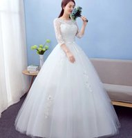 balls premiums - 2016 very high quality premium gowns with sleeves luxury and sweet wedding dress