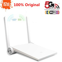 Wholesale Original Xiao mi Router Mini MI Router Smart Router White Dual band GHz GHz Maximum Mbps Support Wifi AC
