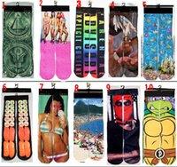 animal stock - Cotton d Printed socks stocking hip hop Sports socks d socks skateboard socks Unisex Sex for women man adult and big kids