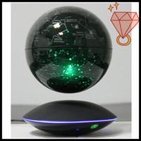 Wholesale dhl free High quality Christmas levitating inch starry globe for gift magnetic bottom globe luminous