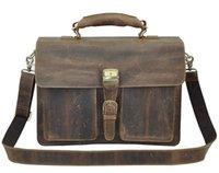 crazy horse leather - Crazy Horse Leather Men Bag Briefcase Shoulder Bag Cross Body Shoulder Bag Portable Men Messenger Bag Best Quality Crazy Horse Leather