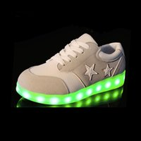 Wholesale 2016 Led Glow Fashion Stars Shoes Youth Men Students Luminous Lovers For Adults Casual Soles With Lights Up USB Charging Women Board Shoes