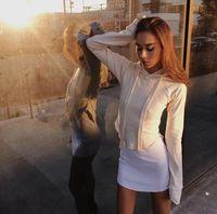 aa belt - Kendall Jenner Jin Xiaomei AA wind paragraphs short hooded fleece street snap brief paragraph coat show thin