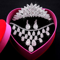 Rhinestone/Crystal anchor stockings - Supernova sale Bridal dresses tiaras Crystal Earbob Crystal Necklace Exquisite packaging Wedding Jewellery full set Have in stock