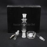 ash selling - Hot Selling Micro Nectar Collector Kit quartz nail Micro NC mm with Quartz Nail Titanium Nail Ash Catcher Dab Straw Glass bongs