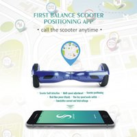 Wholesale NEW Design APP CONTROL Self Balancing Scooters inch Bluetooth Music Hoverboard wheel Electric Standing Scooter with Bumper strip
