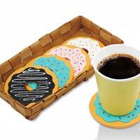 beer mat coaster - 4Pcs Round Donut Coasters Drink Bottle Beer Beverage Cup Mats cup mat plastics coaster posavasos