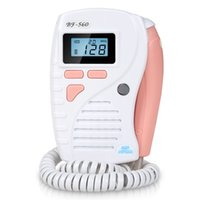 Wholesale smart fetal doppler Mhz probe pink color with lcd display fetal heart rate ultrasound fetal doppler prenatal doppler