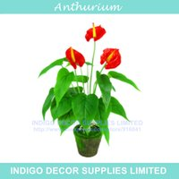 anthurium leaves - Anthurium Bouquet Leaves Flower Latex Anthurium Root Calla Real Touch Wedding Flower Table Outdoor Flower