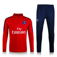 Wholesale 16 PSG training clothes sweater coat long sleeved Set autumn winter sports Soccer Jerseys Paris Slim trousers Soccer Uniforms original