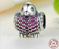 Wholesale Hot Sale Sterling Silver Cute Little Bird Diamond Beads Fit Pandora Snake Chain Bracelets Bangles DIY Jewelry Loose Beads