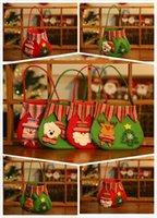 Wholesale In the new Christmas candy bag High end Christmas gift bags Santa Claus snowman Christmas bear deer gift bag