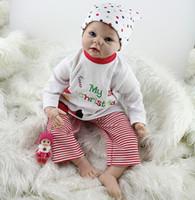 baby cuddle toy - 22 Inch NPK Baby Doll Toy Reborn Cuddle Soft Vinyl Silicone Lifelike Newborn Dolls cm For Women Adoption