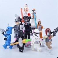 Wholesale sexy anime figure legominifigures Star Wars Force awakening children building blocks assembled model ornaments hand puppet
