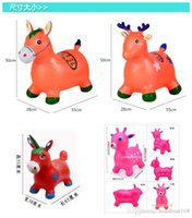 baby nursery items - Children s music jumping horse inflatable toys jumping deer green baby nursery toys sports horse riding