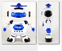 Wholesale Newest Fashion Rotation Electric Robot Dancing Music Light Music Children Kids Toy Children Kids Gift