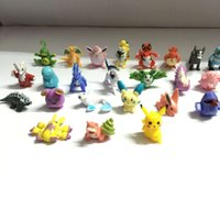 Wholesale 144 set pocket toy Figures Toy Cartoon Anime Mini Action Figures pikachu Birthday Gifts Mixed cm