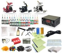 Cheap Complete Tattoo Kit 3 Machine Coil Guns Equipment Power Supply 25 Ink Colors TK-27