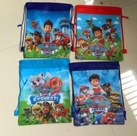 school bags - NEW arrive PAW Patro drawstring bags star war backpacks children s school bags