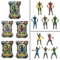 Wholesale New Mortal Kombat Figure10cm with color boxes Ninja samurai action figure doll model brinquedos kids child birthday gift toys