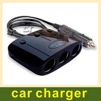caricabatteria per auto Dual USB ED con un interruttore a tre trascinato accendisigari auto caricatore doppio USB uno su tre convertitore di distribuzione di energia