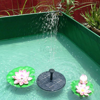 Wholesale 10pairsNew Lotus Leaf Floating Water Pump Solar Panel Garden Plants Watering Power Fountain Pool with English Manaul XQ0142