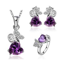 Wholesale New products listed high grade gem jewelry sets earrings rings and Pendant necklace