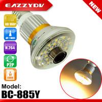 Eazzy BC-885Y Bulb WiFi / AP HD960P Caméra réseau IP P2P avec 5 Watt Warm Light Fashional Style