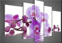 Wholesale 100 Hand painted High Quality Huge Beautiful Flower Oil Painting on Canvas Home Wall Decor Art Modern Abstract Paintings set B88