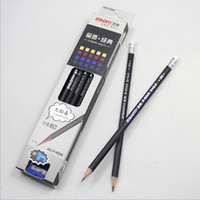 Wholesale pc Office Stationery B Wood Pencil School Examination Black Ink Pencils Professional Drawing Sketching Pencil With Eraser