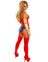 adult superhero - PVC Corset Panties Set Wonder Woman Costume Halloween Carnival Adult Sexy Cosplay Superhero Superwoman Costumes