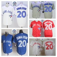 Wholesale 2016 Men Josh Donaldson Jersey Cheap Baseball Jerseys Toronto Blue Jays Home Road White Red Blue Grey Jersey Base MLb Stitched