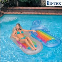 Wholesale INTEX cm water air mat mattress adult summer swimming pool toy lounge with cup holder color