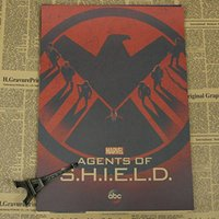 paper agent - Sun86 AGENTS OF SHIELD Vintage Movie Poster Wall Paper Home Decor Cudros Art Painting Mix Order x30CM H