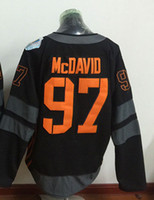 Wholesale 2016 World Cup Team Edmonton Oiler Connor McDavid Black Ice Hockey Jerseys Size M XL Fast Shipping Embroidery Logos