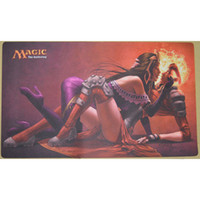 Wholesale Magic the gathering Playmat Brainstorm amp Chandra Liliana Board Games Playmat table playmat mtg cards playmats made of