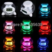 Wholesale Multi Function Alarm Clock Natural Sound Color LED Temperature Calendar Ball