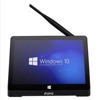 Wholesale PIPO X9 x1200 Dual Boot Smart TV Box Mini PC Windows Android Intel Z3736F Quad Core GHz G G set top box