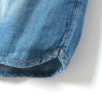 Precio de Vaqueros de las muchachas populares-tamaño nueva del estilo del verano Wholesale-2016 Plus chicas populares pantalones cortos de mezclilla pantalones vaqueros puros de la correa de color los mini pantalones transpirables clohes chicas elegantes
