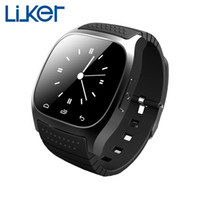 Wholesale LiuKer New M26 Bluetooth Smart Watch Smartwatch With LED Alitmeter Music Player Pedometer For Android IOS Mobile Phone