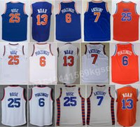 Wholesale Newest team sport jerseys quality Derrick Rose Jersey Joakim Noah Kristaps Porzingis Shirt Carmelo Anthony basketball jerseys