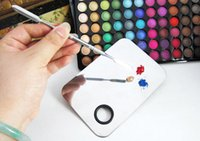Wholesale Stainless Steel Makeup Mixing Palette Nail Art Nail Art Eye Shadow Mixing Palette Spatula Beauty Cosmetic