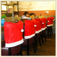 Wholesale sales Christmas decorations Creative layout Christmas party decoration Christmas hat style Dining chair