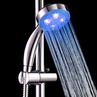 Wholesale Handheld Color LED Romantic Light Water Bath Home Bathroom Shower Head Glow No Batteries And External Power Supply