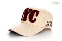 Nuevos 8 colores NYC de la venta al por mayor de la fábrica cupieron los casquillos ocasionales de los sombreros del snapback de los deportes al aire libre del sombrero para las mujeres de los hombres que enviaban libremente B175