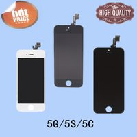 Wholesale For Iphone C S AAA Replacement Digitizer Assembly LCD Touch Panels With Black and White