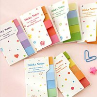 Wholesale Cute Rainbow Colored Sticky Notes N Times Sticker Memo Pad Post It Note Bookmark Marker Home Office School Supplies ON018
