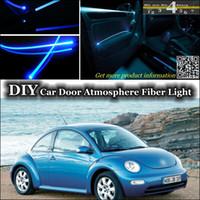 beetle door panel - interior Ambient Light Tuning Atmosphere Fiber Optic Band Lights For Volkswagen VW New Beetle Bjalla Door Panel illumination Refit