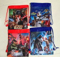 Wholesale 2017 children hot sell STAR WARS STAR WARS draw string bag non woven beam pocket bag Kids School Bags