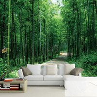 bamboo living room - Custom Photo Wallpaper D Stereoscopic Pastoral Landscape Bamboo Forest Wallpaper Living Room Sofa TV Backdrop Bamboo Wall Paper